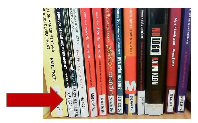 Bøker på hylla