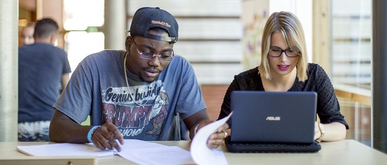 Studenter arbeider med EndNote