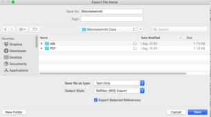 For å overføre PDF-ene må filen eksporteres til .data-filen