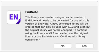 EndNote converted