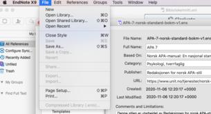 Lagre stilen ved å klikke på file>save as